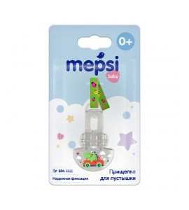 Прищепка-держатель для соски Mepsi 0+