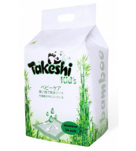 Одноразовые впитывающие пеленки TAKESHI KIDS бамбуковые 60*60 уп. 30шт