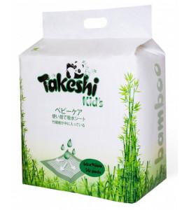 """Одноразовые впитывающие пеленки """"TAKESHI KIDS"""" бамбуковые 60*90 уп. 30шт"""