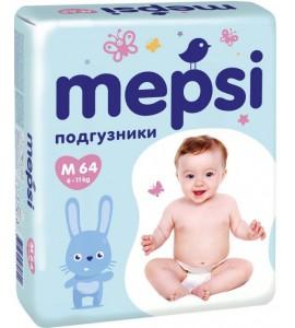 Подгузники Mepsi, 6-11 кг (M)