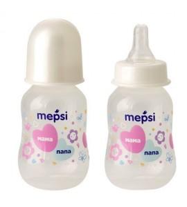 Бутылочка для кормления с силиконовой соской Mepsi 125 мл